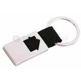 Llavero metálico con cinta tejida | Articulos Promocionales
