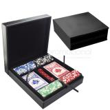 Set cartas dados chips estuche poker neg