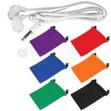 Audifonos simple cable plano + bolsa