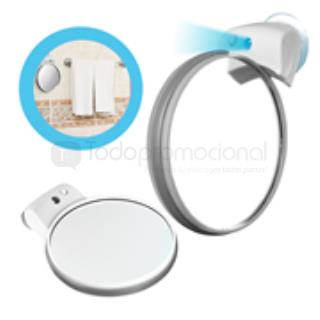 Espejo doble giratorio con aumento luz y chupon vanidad for Espejo aumento con luz