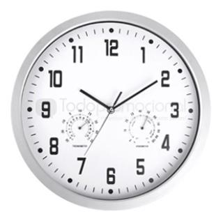 Reloj de pared con termometro e hidrometro promocionales - Termometro de pared ...