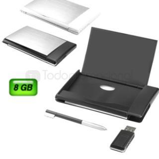 USB Tarjetero 8 GB con Bolígrafo | Articulos Promocionales