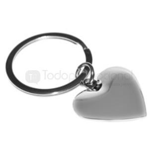Llavero metálico en forma de corazón   Articulos Promocionales