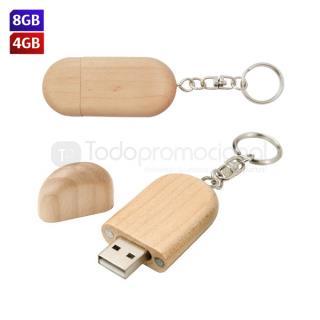 USB Llavero Wood   Articulos Promocionales