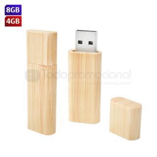 USB Bambú Rectangular | Articulos Promocionales