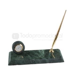 Base de marmol con reloj y portaplum | Articulos Promocionales