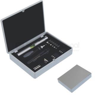 Set de herramientas con estuche y placa de aluminio | Articulos Promocionales
