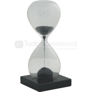 Reloj de arena en cristal con base de madera | Articulos Promocionales