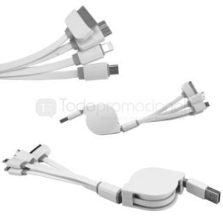 CABLE CARGADOR RETRACTIL USB 4 EN 1 | Articulos Promocionales